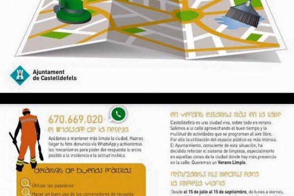 La ciutadania podrà comunicar incidències sobre neteja mitjançant un número de whatsapp
