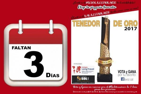 18 AÑOS DEL TENEDOR DE ORO Premio a la Gastronomía de Castelldefels