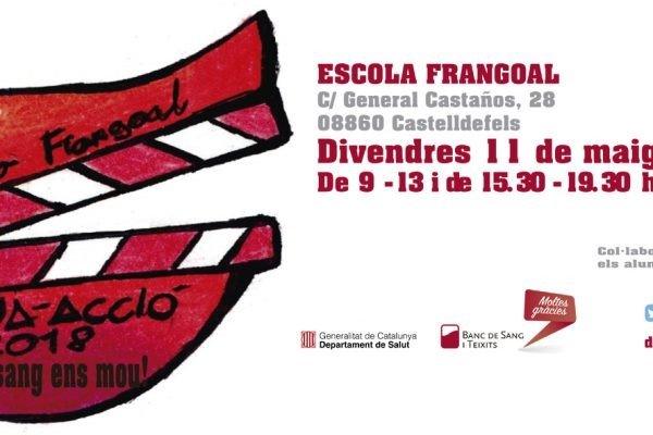 Vine a donar sang al col.legi Frangoa