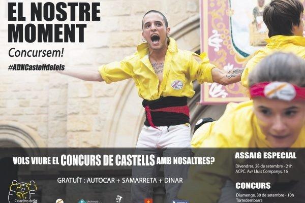 Els Castellers de Castelldefels representaran la ciutat al Concurs de Castells