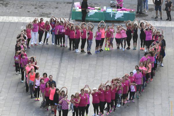 Castelldefels es posa de rosa, sábado, día 19 de octubre