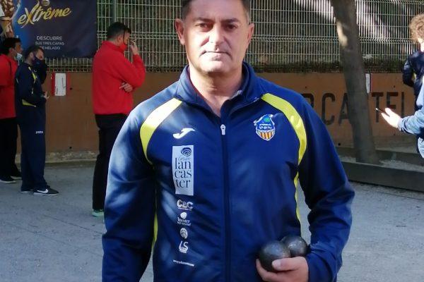 Pedro Juan Jiménez  Presidente del Club Petanca Castelldefels